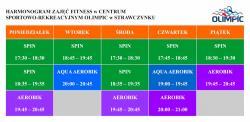 Zmiana harmonogramu zajęć fitness