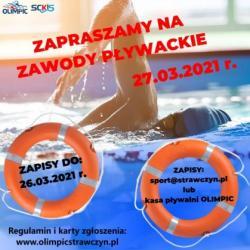 Zawody pływackie 2021 - regulamin, zgłoszenia