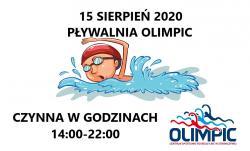 Godziny otwarcia Pływalni 15 sierpnia 2020