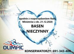 Pływalnia OLIMPIC nieczynna do odwołania