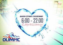 Pływalnia Olimpic czynna od 6:00 do 22:00