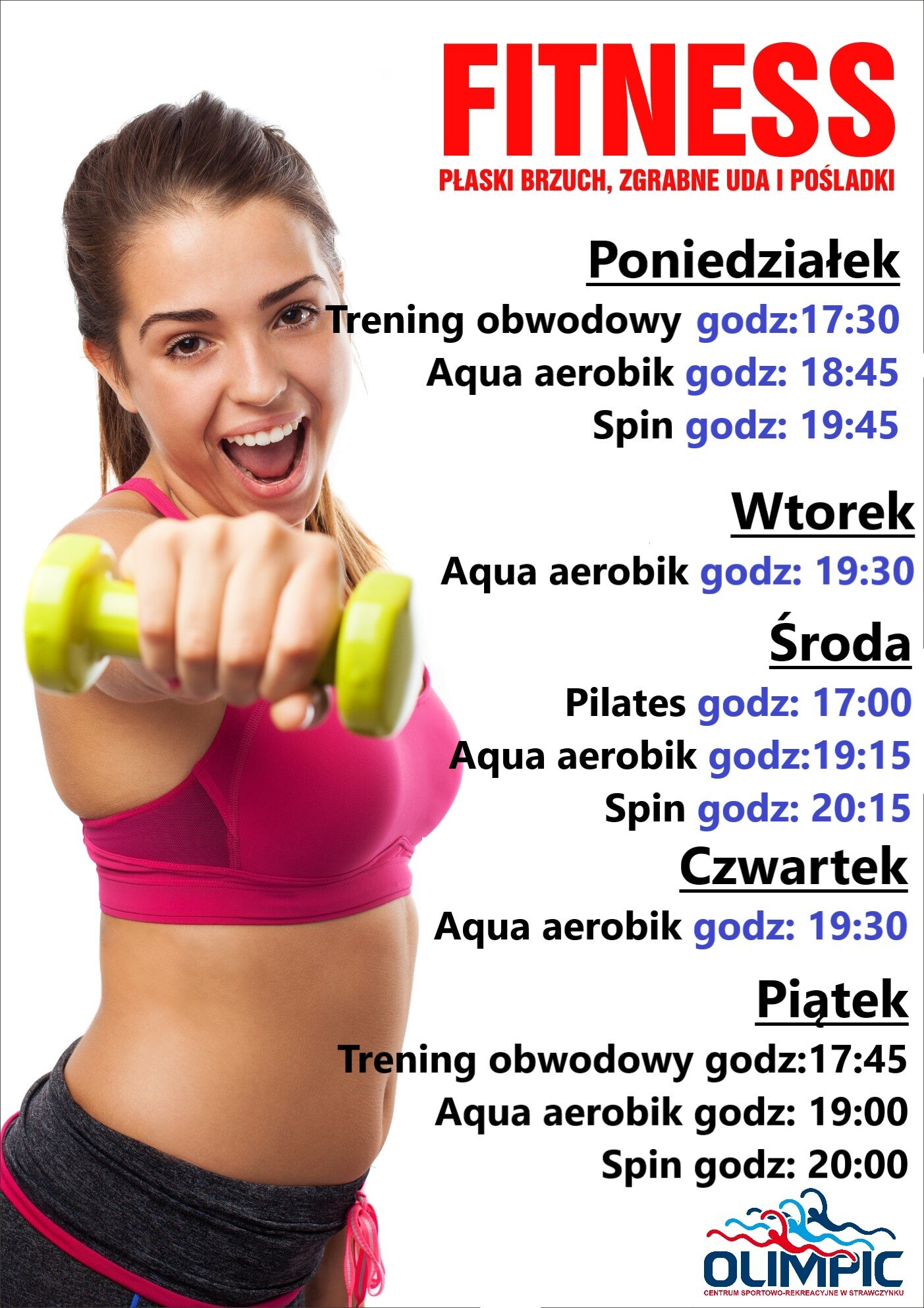 FITNESS plakat na strone olimpic