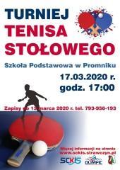 Turniej Tenisa Stołowego 17.03.2020 - zapisy