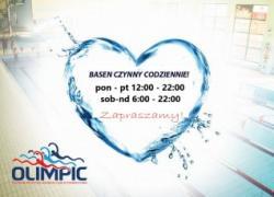 Zmiana godzin otwarcia pływalni OLIMPIC