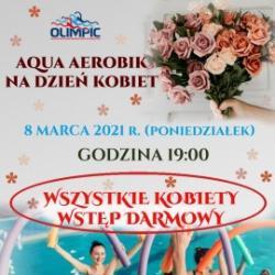 Darmowe zajęcia z Aqua Aerobik z okazji Dnia Kobiet